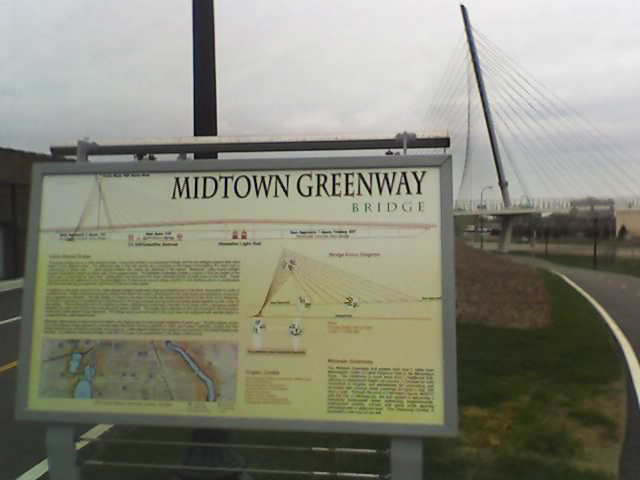 Midtown Greenway bridge signage