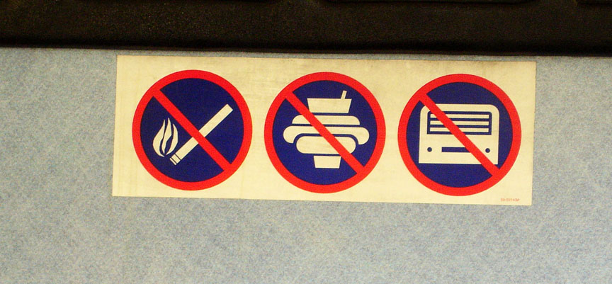 No Smoking. No Food. No Robots.