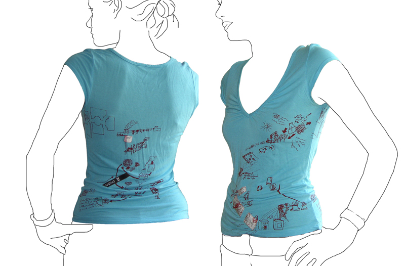 Tshirt printed with it\'s own life cycle