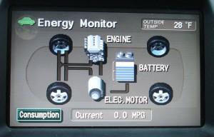 Prius Energy Transfer map