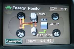 Map of Prius Energy Usage in motion