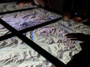 Interactive table created interaction for watersheds