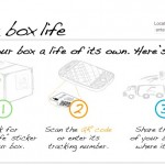 Box life transparently tracks the back-stories of where boxes have traveled.