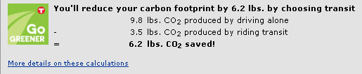 Public transit reduces carbon footprint