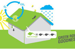 graphic shows 5 layered attributes of green rooves